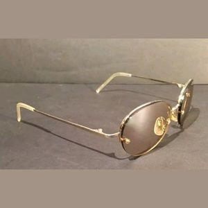 b20776554d Isaac Mizrahi IM 112 Gold Mirrored Sunglasses